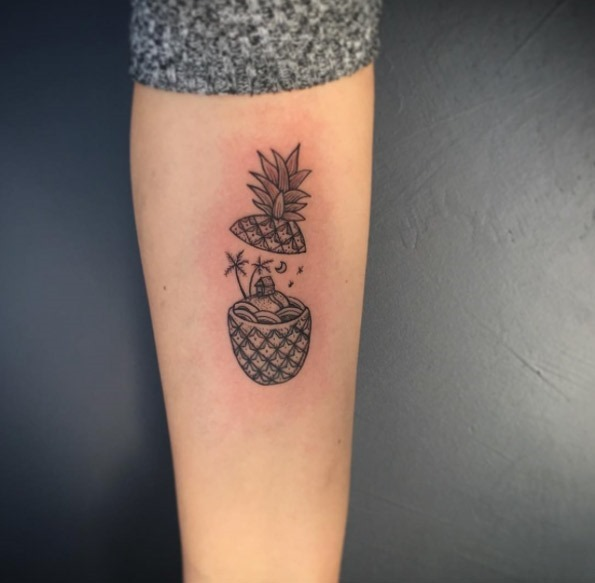 Este adorável abacaxi