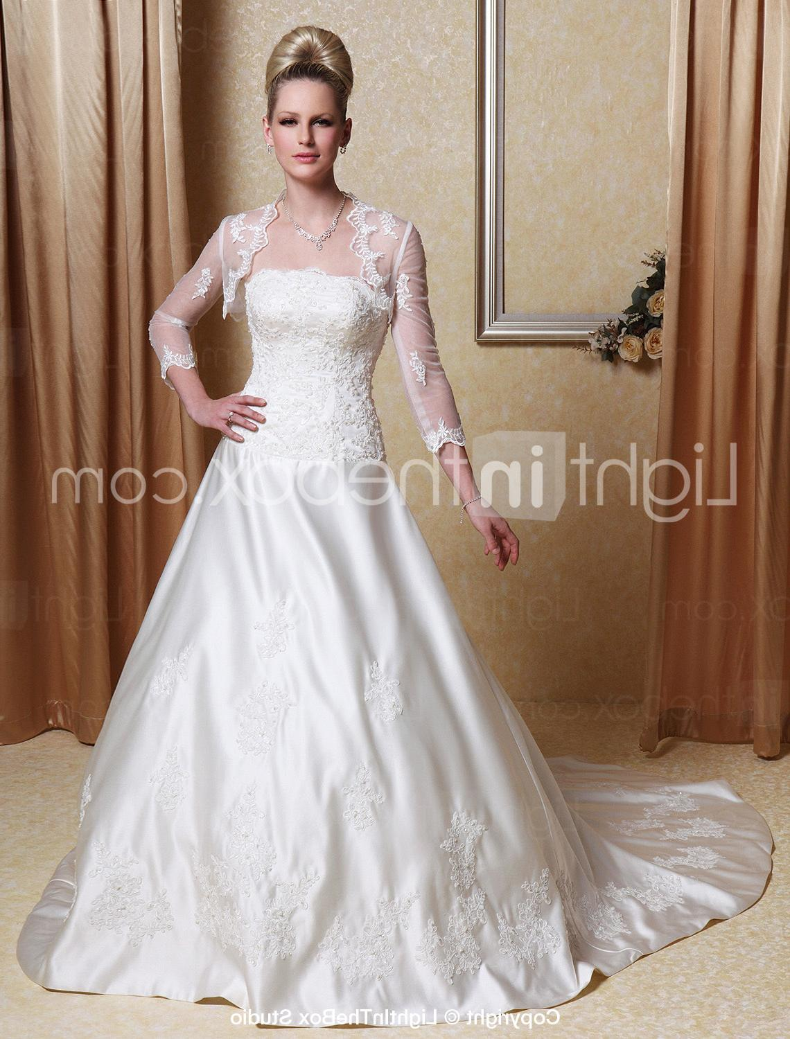 Satin Wedding Dress With A