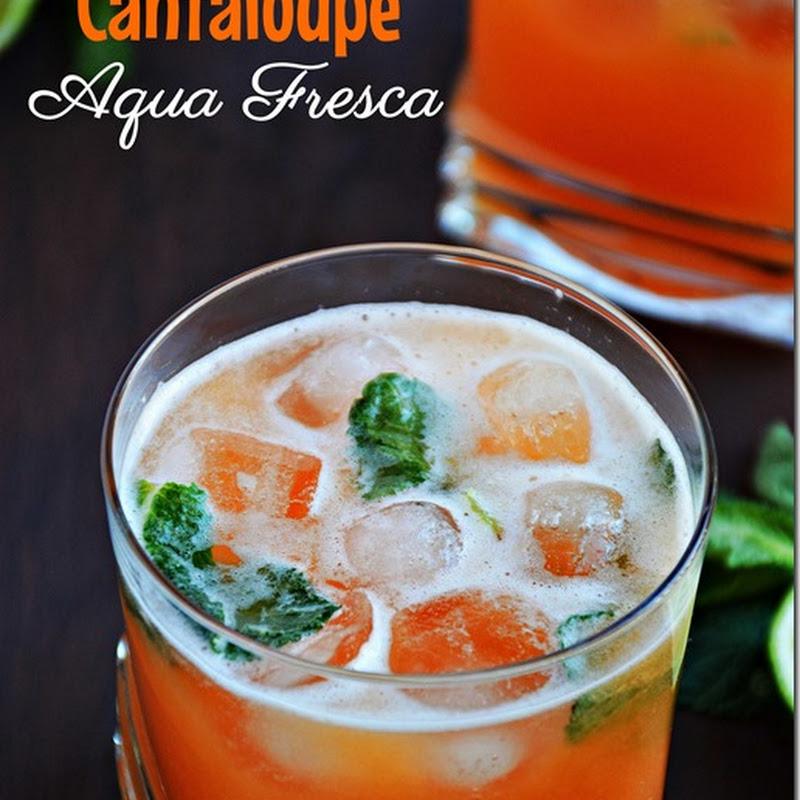 Cantaloupe agua fresca / Cantaloupe Juice with Mint