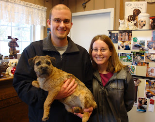 """Tillie"" with her new Mom and Dad"