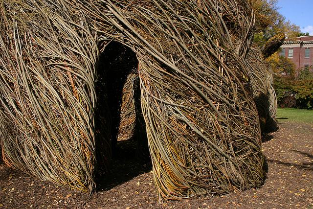 Stick Art Structure by Patrick Dougherty