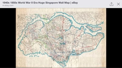 Singapore 1942 ww2 era map of singapore this map was recently sold on ebay in the us i wish i had seen it before sale gumiabroncs Gallery