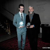 WWW.ENTSIMAGES.COM - Father and Son Josh and Damon Hill displaying their Hall of Fame Awards at   at    Motor Sport Hall Of Fame at Royal Opera House Covent Garden London February 25th 2013                                                    Photo Mobis Photos/OIC 0203 174 1069