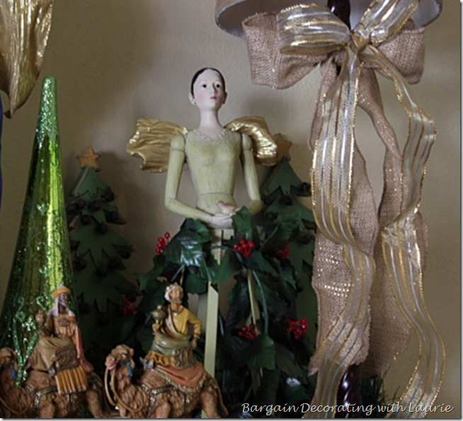 Angel on Christmas Mantel