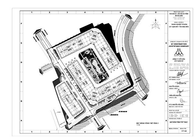 Mặt bằng tổng thể 3 block A, B, C tầng 1 Chung Cư Mường Thanh Gò Vấp Sài Gòn