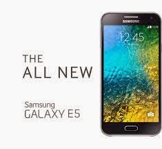 Samsung Galaxy E5 Ini Memiliki Layar 5 Inch Dengan Teknologi Super AMOLED Capacitive Touchscreen 16 Juta Warna Beresolusi 7202151280 Pixels