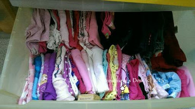 Tiger girl's drawer of clothes