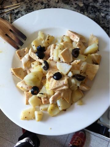 Recetas f ciles para cocinar con wok wok de patatas con - Cocinar con wok en vitroceramica ...