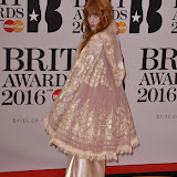 OIC - ENTSIMAGES.COM - Florence Welch at the  The BRIT Awards 2016 (BRITs) in London 24th February 2016.  Raymond Weil's  Official Watch and  Timing Partner for the BRIT Awards. Photo Mobis Photos/OIC 0203 174 1069