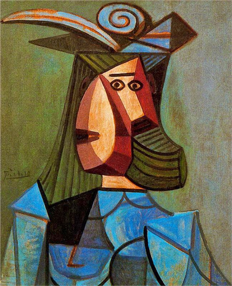 Pablo Picasso - Portrait of woman (Dora Maar), 1942