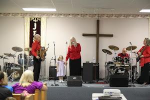 Momma Templet testifying at Maurepas Full Gospel Church, in Maurepas, LA
