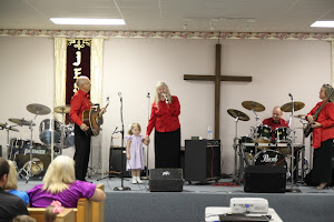 Momma Templet testifying at Maurepas Full Gospel Church, in Maurepas, LA