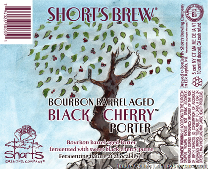 Short's Bourbon Barrel Aged Black Cherry Porter