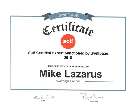 Act! Certified Expert - Santioned by Swiftpage #ActCRM