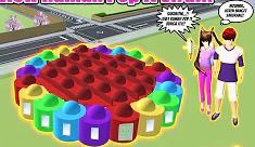 Rumah Pop IT Berbentuk Bunga Di Sakura School Simulator