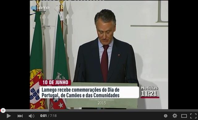 Reportagem RTP1 - Cavaco Silva em Lamego para comemorar o 10 de junho