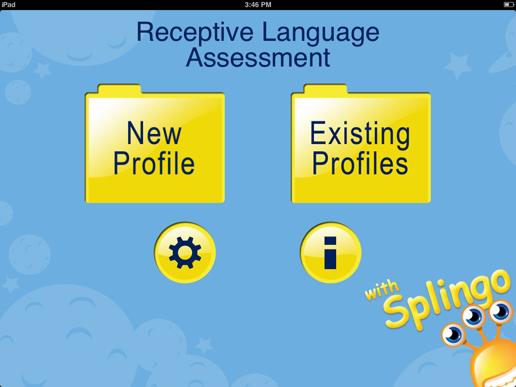 Receptive Language Assessment Main Page