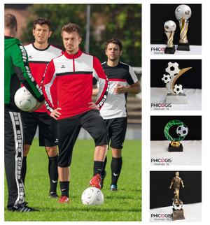 équipement de football, tenue de foot, trophée,