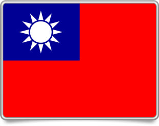 Taiwanese framed flag icons with box shadow