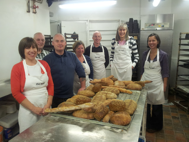 Happy bakers on 100% sour bread baking course