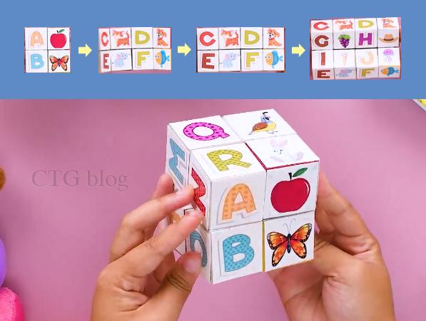 Hướng dẫn làm hộp xếp hình khối xoay làm quà tặng