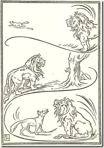 Aesop Fox and the Lion