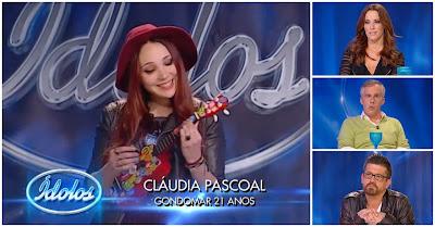Cláudia pascoal surpreende jurados no Ídolos 2015