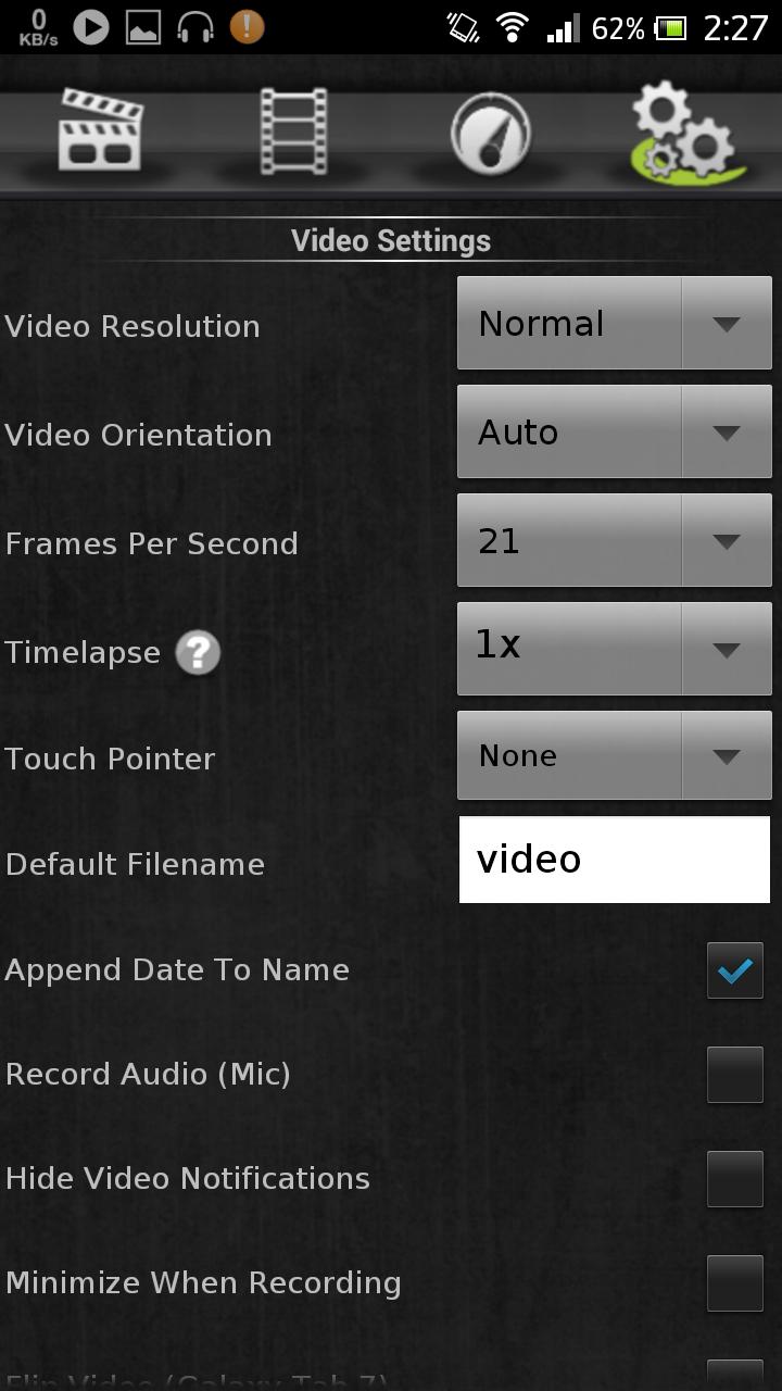 تطبيق screen vidio recorder لتصوير فيديو الشاشة ( روت )