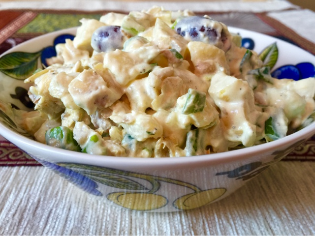 New potato and artichoke salad with dijon mayonnaise