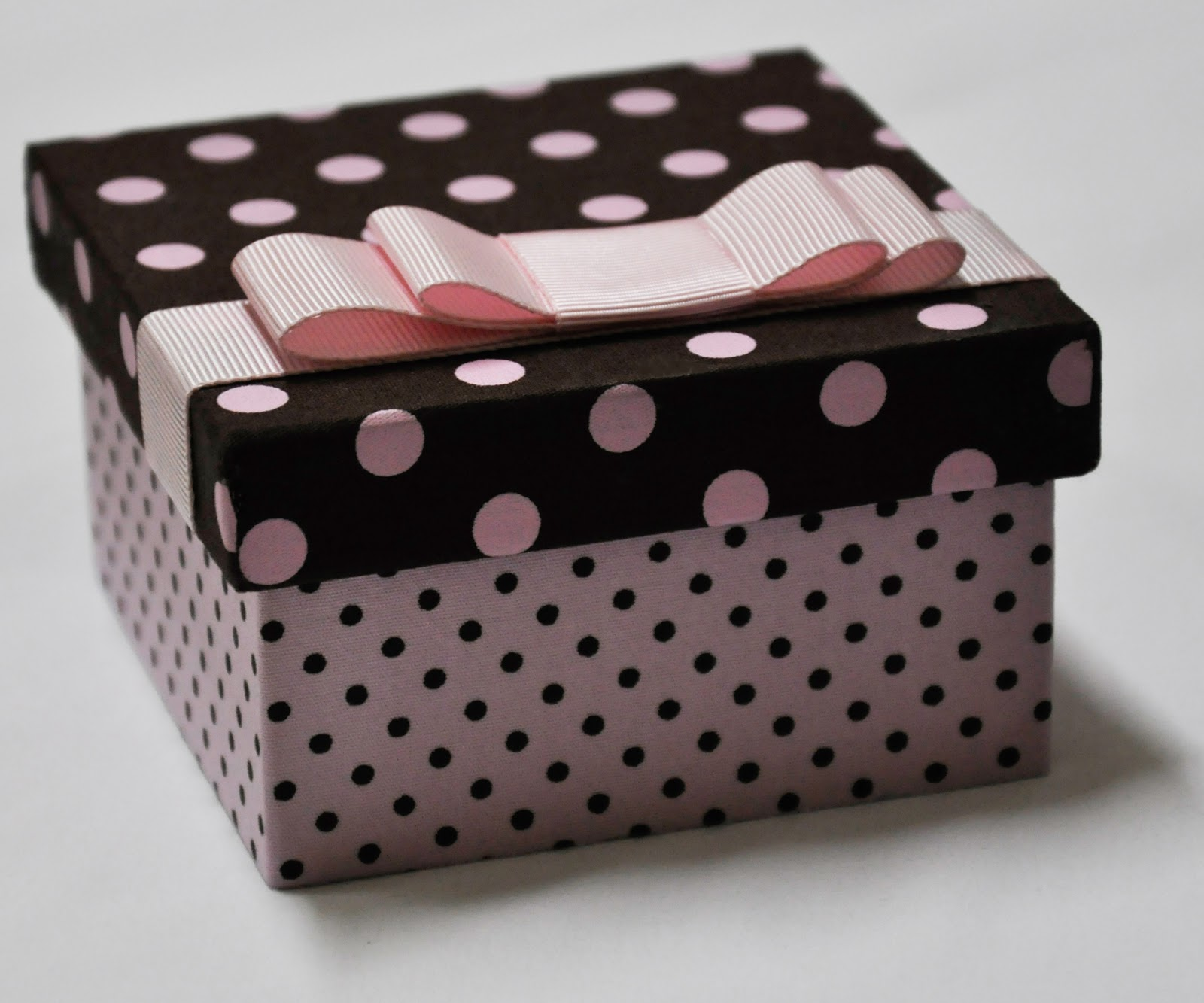 Artesanato Reciclagem Caixa De Leite ~ Artesanato Chique Rosa e marrom de bolinhas