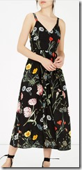 Warehouse floral print midi dress