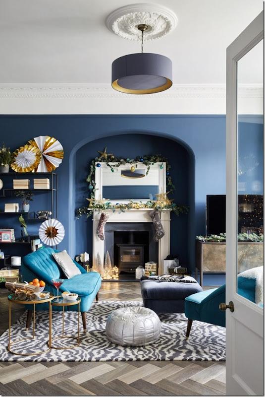 Decorazione di Natale in una casa vittoriana a Londra