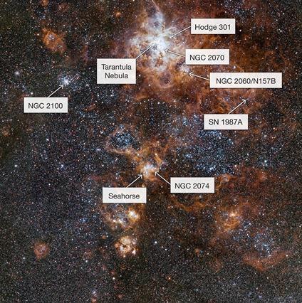 região em torno da Nebulosa da Tarântula