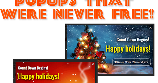 Christmas Popups with Falling snow and Countdown Timer!