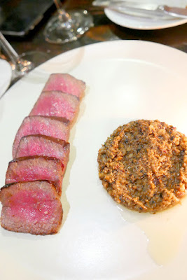 Muselet Wagyu Culotte with short rib, mushroom duxelle