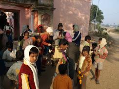 Gopika distributing prem prasad