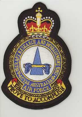 RAAF Aircraft Research and Development Unit crown.JPG