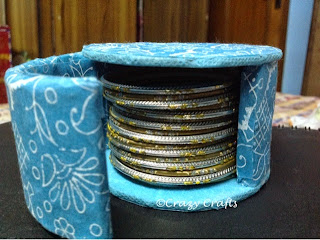 Bangle box from tape roll