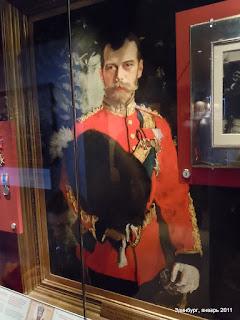 Портрет Николая II в музее Шотландских Драгунов