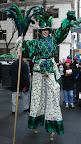 Ms. Money Penny on stilts