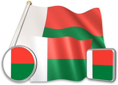 Malagasy flag animated gif collection