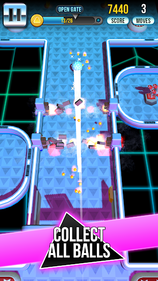 Retro Shot Pinball Puzzle Game- screenshot thumbnail