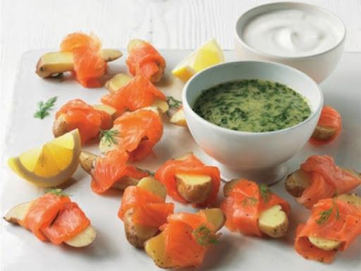 Scandi smoked salmon potatoes