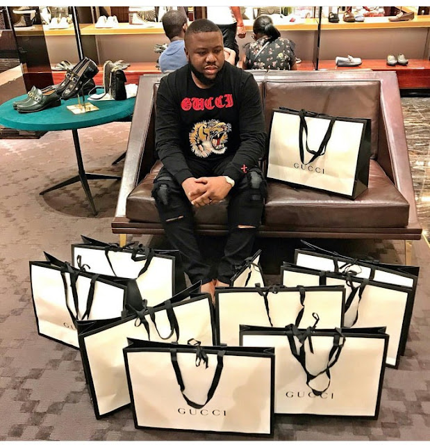 Hushpuppi Gucci shopping spray pictures deleted on Instagram by instagram
