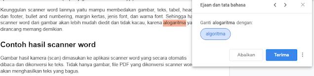 cara cek typo word di Google Dokumen