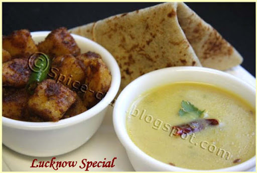 Cham's Lucknowi Dhal & Khaste Mathura Aloo  http://spice-club.blogspot.com/2009/03/lucknow-special.html
