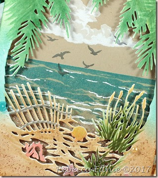 kraft beach fancy frame card2