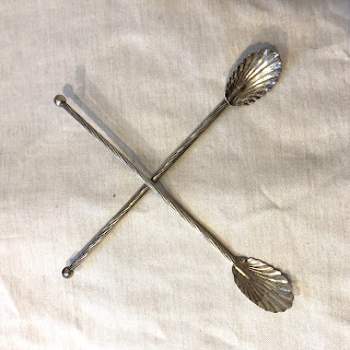 Sterling Silver Straw/Spoon Pair