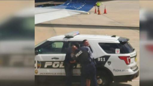 Police arrest belligerent passenger on flight at Jacksonville International Airport