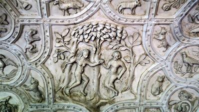Eve giving Adam the apple